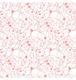 Seamless pink lines and dots pattern vector image vector image