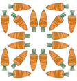 seamless vegetables pattern of carrots vector image vector image