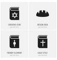 set of 4 editable faith icons includes symbols vector image