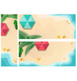 set summer time backgrounds vector image vector image