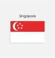 singapore flag vector image