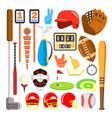 sport icons baseball golf american vector image vector image
