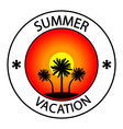 Summer vacation stamp vector image