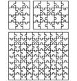 Three white puzzles