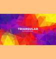triangle polygonal abstract geometric background vector image vector image