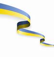 ukrainian flag wavy abstract background vector image vector image