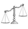 unbalanced scales vector image