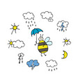 weather forecast icons set for your design vector image vector image