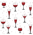 wine glasses on white vector image vector image