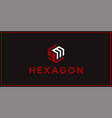 ym hexagon logo design inspiration vector image vector image
