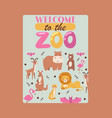 zoo animals poster vector image