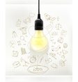 Idea business infographics vector image
