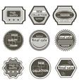 Set quality mark vintage labels sale vector image