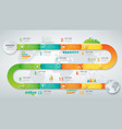 abstract 3d infographic template with 12 options vector image vector image
