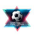 abstract football soccer background design vector image vector image