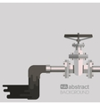 Background water pollution with pipe valve on the vector image
