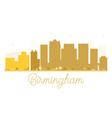 Birmingham City skyline golden silhouette vector image vector image