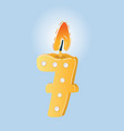 birthday candle seven shape vector image vector image