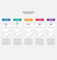 business infographic labels template with 5 vector image vector image