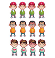 cartoon boys emotions set isolated vector image vector image