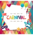 celebration background with carnival stickers