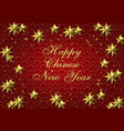 chinese new year stylized copper bronze stars on vector image vector image