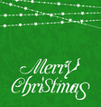 christmas card merry lettering vector image