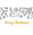 christmas objects hand drawn seamless pattern vector image vector image