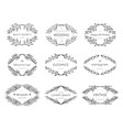 collection of vintage patterns and frames vector image vector image
