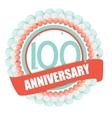 Cute Template 100 Years Anniversary with Balloons vector image vector image