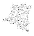 democratic republic congo map of polygonal mosaic vector image