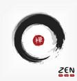 enso zen circle style sumi e design black gray vector image vector image