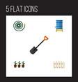 flat icon dacha set of hosepipe spade flowerpot vector image vector image