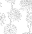 floral sketches wallpaper vector image