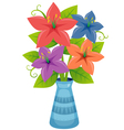 Flower in vase vector image