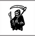 ghost of death in a robe and with a scythe vector image