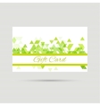 Gift card with a round badge vector image vector image