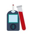 glucometer blood test vector image vector image
