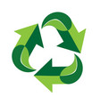 green recycle symbol icon vector image vector image