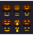 Halloween Pumpkins on Dark Background vector image vector image
