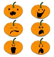 halloweens pumpkin set icons vector image