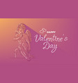 happy valentine s day banner with angel vector image