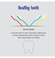 Healthy teeth background with text teeth and vector image vector image
