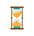 hourglass isolated on a white vector image vector image