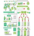 INFOGRAPHIC DEMOGRAPHICS POST IT GREEN vector image vector image