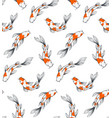koi fish pattern vector image