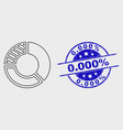 linear pie chart icon and grunge 0000 vector image vector image