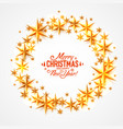 merry christmas and happy new year stars circle vector image vector image