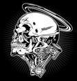 mortor shock skull vector image vector image