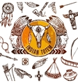 Native Americans Background vector image vector image